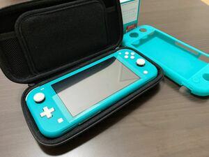 Nintendo Switch Lite ターコイズ スイッチ ライト ケース シリコンカバー 付き