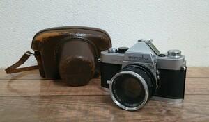 送料無料 ジャンク ミノルタ SR-1 フィルムカメラ 1:2F=55mm AUTO ROKKOR-PF 昭和レトロ 中古 #1008