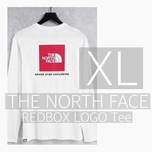 THE NORTH FACE ボックスロゴ ノースフェイスTシャツ 長袖Tシャツ XL ホワイト