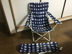 即決!!定価6050円 限定ユナイテッドアローズBEAUTY&YOUTH UNITED ARROWSコールマンCOLEMAN 青白チェック柄 チェア アウトドア折り畳み椅子