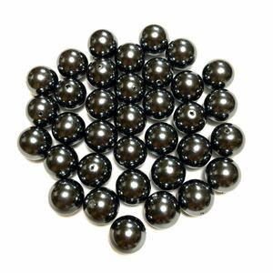 ハンドメイドパーツ(10) 30個セット   高級人工真珠 高品質 日本製      ブラックパール オーロラ 両穴貫通