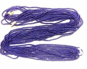 高級人工真珠 高品質ビーズ調パール糸通し日本製 ロング7連束売り 大量まとめ売り  パープルオーロラカラー 各色一連ずつの相談可能