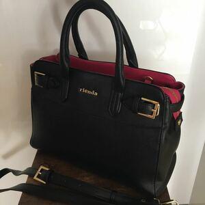 新品未使用 リエンダ ハンドバッグ ショルダーバッグ トートバッグ ビジネスバッグ 黒 2way 大容量 送料無料 斜め掛けバッグ 肩紐