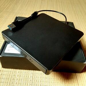 外付けCD.DVDドライブ DVD-RW USB3.0高速転送