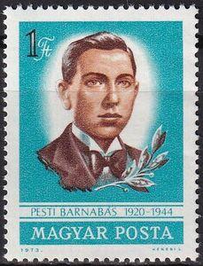 ★☆★ 美しい切手 ハンガリー 1973  Resistance Fighter Barnabas Pesti, 1920-1944 1種完 未使用 NH ★☆★