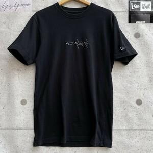Yohji Yamamoto × NEW ERA ヨウジヤマモト ニューエラ コラボ 刺繍 ロゴ 半袖 Tシャツ カットソー size M