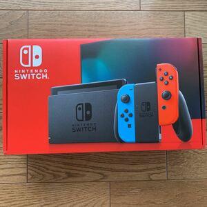 Nintendo Switch ニンテンドースイッチ【箱あり、メーカー保証あり】 ネオンレッド ネオンブルー 新モデル