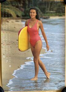 Hiroko * Grace 1989 year 6 month ~8 month Hiroko Grace Sumitomo Bank summer calendar poster
