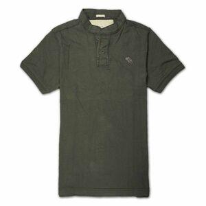人気 アバクロ メンズ ブルーポロシャツ ( 半袖 ) Abercrombie&Fitch OUTRETSALE☆ 在庫処分限定 在庫処分品につき Lサイズ※