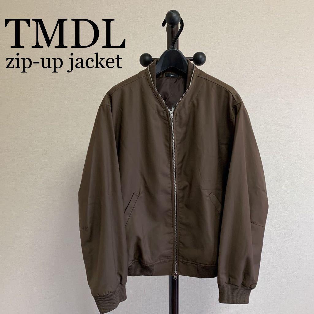 【送料無料】新品未使用 『TMDL』 THE MIDDLE 《ザ ミドル》★ドルマンスリーブ★ジップアップジャケット ブルゾン [サイズM] ma-1タイプ
