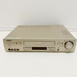 T09032 Victor S-VHSビデオカセットレコーダー HR-VX200 平成 懐かし 映像再生 思い出 青春 S端子 ビデオテープ デッキ TBC &3D