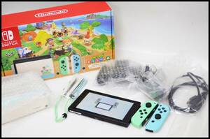 美品 ニンテンドースイッチ あつまれ どうぶつの森セット ソフト無し 保証印無し Nintendo Switch 本体