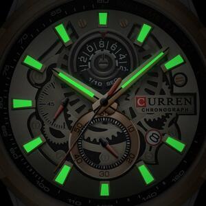 カレンメンズ腕時計高級ブランドのファッションクォーツ腕時計メンズレザースポーツ腕時計クロノグラフ時計男性レロジオの masculino