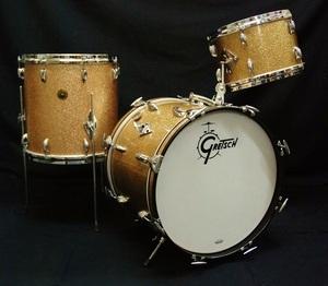 Vintage Gretsch 60's ラウンドバッジ 18 12 14 オリジナルカラーChampagne Sparkle