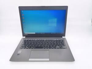 送料無料 中古良品 ☆東芝/dynabook R63/A/Core i5 2.30GHz/4GB/SSD256GB/無線LAN/Bluetooth/カメラ/Office/Windows 10 Pro