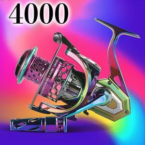 YU193 スピニングリール 4000番 釣りリール リール 軽量 最大ドラグ力10KG 遠投 海水 淡水用 強力ブレーキ 左右ハンドル交換可能