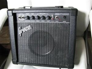 Greco GBX1000 小型アンプ ギター + ベース  2 インプット 動作OK