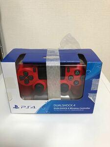 PlayStation4 コントローラー マグマレッド 純正 充電ケーブル付き