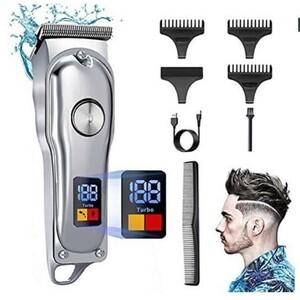 電動バリカン ヘアーカッター バリカン メンズ 防水 散髪用 プロ仕様 ヒゲトリマー USB充電式 刈り高さ調節可 ディスプレイ