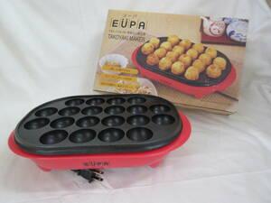 【菊水-1467】CK ユーパ 電気たこ焼き器 TSK-2136 2006年製 フッ素加工プレート EUPA