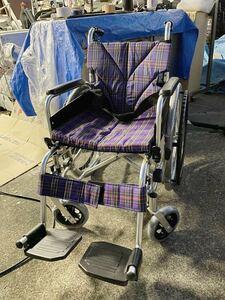 I7398 カワムラサイクル KAWMURA 折りたたみ自走式車椅子 車いす