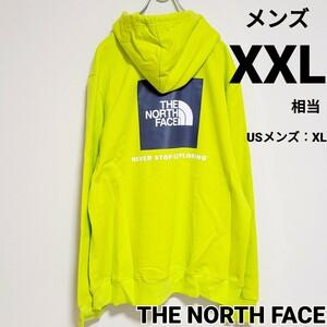 THE NORTH FACE ノースフェイス ボックスロゴ メンズパーカー グリーン XXL相当 スクエアロゴ