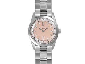 ブルガリ BVLGARI ソロテンポ ST30C2SS クォーツ レディース 腕時計 ピンクシェル文字盤 ダイヤ10P ポリッシュ・電池交換済