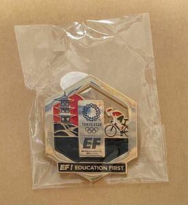 東京オリンピック オリジナル ピンバッジ EF 自転車競技 サイクリング ピンバッチ 非売品 グッズ スポンサー ピンズ