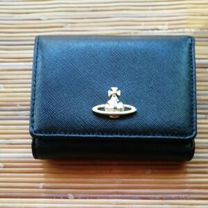 三つ折り財布 ヴィヴィアンウエストウッド 小銭入れブラック