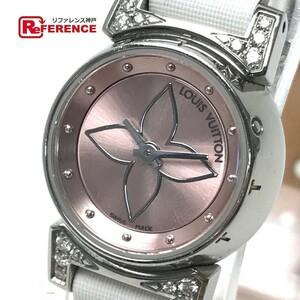 LOUIS VUITTON ルイ・ヴィトン Q151P レディース腕時計 タンブール ビジュ ラグダイヤ SS/モノグラム・ドゥスールベルト(ブロン)
