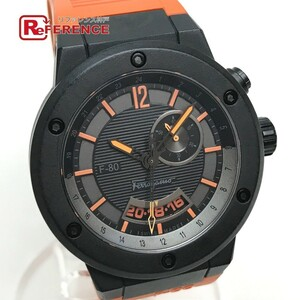 Salvatore Ferragamo サルヴァトーレフェラガモ F55LGQ6876 SR62 F-80 セカンドタイムゾーン 80周年記念 メンズ腕時計