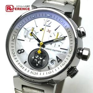 LOUIS VUITTON ルイ・ヴィトン Q132C レディース腕時計 ラブリーカップMM タンブール SS×革ベルト ホワイト レディース