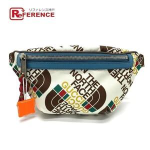 未使用 GUCCI グッチ 650229 ロゴ ノースフェイスコラボ バムバッグ ウエストバッグ 鞄 ウエストポーチ ユニセックス マルチカラー