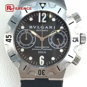 BVLGARI ブルガリ SCB38S ディアゴノ スクーバ オートマティック メンズ腕時計 SS/ラバーベルト シルバー 自動巻き