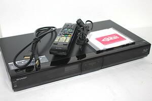 シャープ AQUOS BD-S520 500GB HDD&ブルーレイディスクレコーダ B-CASカード有 リモコン(電池入) 新品HDMIケーブル 届いたら即観賞