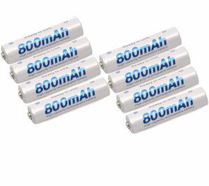 8本セット■ 単4形ニッケル水素充電池 大容量800mAh 繰り返し充電可能 単四電池 単4形 単4 単四 (8個セット) 防災グッズ