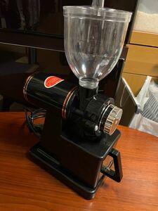 新品未使用電動コーヒーミル 黒 変換アダプター付き 即日発送