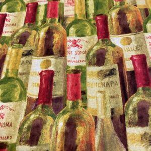 ハギレ・カットクロス ビンテージ ワイン 柄