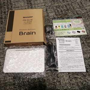 展示品美品SHARP Brain pw-a1-w 生活教養レベル 電子辞書 EX-word シャープ カシオ CASIO 新品未使用