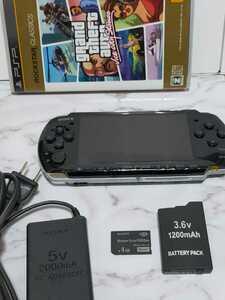 PSP 3000 本体 充電器 バッテリー メモリースティック グランド・セフト・オート