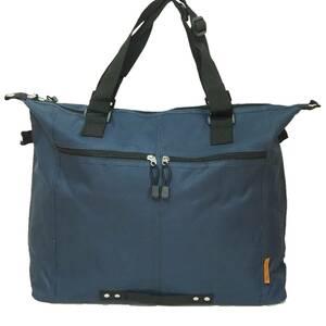 【新品・ネイビー】 ☆Ladies Big Tote Bag☆ 大容量 エコバッグ マザーズバッグ A3ファイル ノートPC ビジネス 学生 通学 通勤