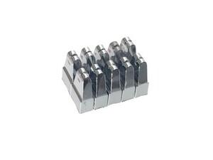 グラフィック・イコライザー フェーダー スライドボリューム用 ツマミ 5mm軸用 10個セット (クローム) 7mm x 4mm x 高さ12mm