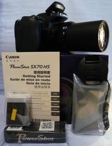 【赤外線改造カメラ★新品★】 PowerShot SX70 HS [2030万画素 光学65倍] 付属品完備★即決で新品256GBメディア・新品電池/充電器をオマケ