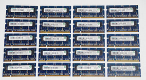 * DDR2 SO-DIMM 512MB × 20 sheets Note PC for memory RAMAXEL PC2-5300S-555 hp. seal both sides implementation operation verification settled *