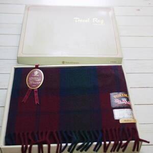 не использовался PORTMAN Британия производства большой размер покрывало на колени высота остров магазин Англия retro шерсть tartan проверка путешествие ковер