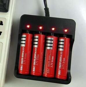 4ps.@ for charger set protection circuit attaching 18650 lithium ion rechargeable battery 4ps.