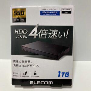 外付けポータブルSSD ESD-EJ1000GBK [ESD-EJシリーズ 1TB ブラック] 新品未開封