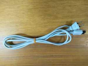 【5本】送料無料 2m HEWTECH製 電源ケーブル メガネケーブル コード グレー メガネ型 2ピン 2穴 プラグ コンセント