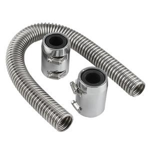 冷却系オイルクーラー インタークーラーレキシブル ホース パイプ ダクト 自動車用品エンジンルームのドレスアップに最適! ホースバンド