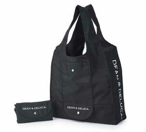 DEAN&DELUCA ショッピングバッグ 黒    エコバッグ  トートバッグ  ディーン&デルーカ   直営店購入